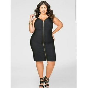 Ashley Stewart Dresses & Skirts - BNWT BLACK BANDAGE DRESS