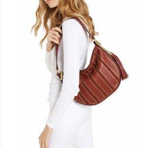 MK Brooklyn Grommet Medium Leather Hobo Bag