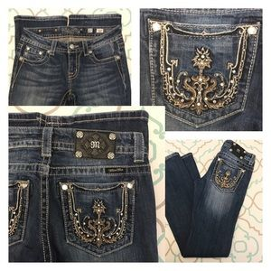 "Miss Me Denim - 💙👖Gorgeous Miss Me Jeans!!👖💙27 3/4 33"" Bling!!"