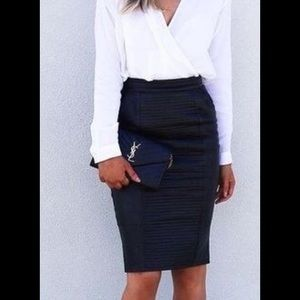 oasis Dresses & Skirts - Black pencil skirt with zip Oasis