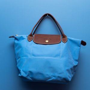Longchamp Handbags - Longchamp mini Le Pliage handbag/ purse blue