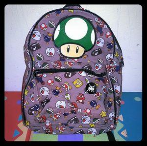 Nintendo Handbags - RARE!! Super Mario Villains Backpack w/ Toad Head