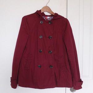 Jackets & Blazers - Maroon raincoat