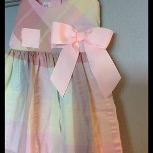 Bonnie Jean Other - Bonnie Jean Sage-Green-Pink-Ribbon-Plaid dress. 2T