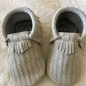 Freshly Picked Other - Freshly Picked grey leather moccasins sz 5