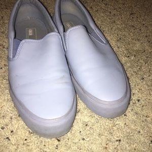 ASOS // Light Blue Slip Ons