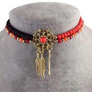 Jewelry - BOGO 2 Dream Catcher Beaded Tribal Feather Chokers