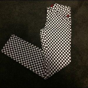 Tripp nyc Denim - Tripp NYC checker black & white jeans denim