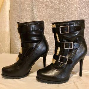 Vera Wang Shoes - Vera Wang Fur Shearling Buckles boots LIKE NEW!!