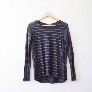 Vince Tops - Vince Linen Striped Tee