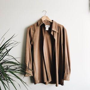 oversized vintage suede jacket
