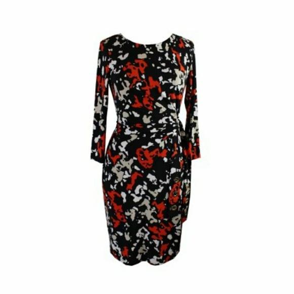 231b5485dd7 Calvin Klein Women s Floral Print Faux Wrap Dress