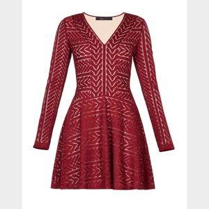 BCBG Dresses & Skirts - BRAND NEW MAROON BCBG KINLEY LONG SLEEVE DRESS