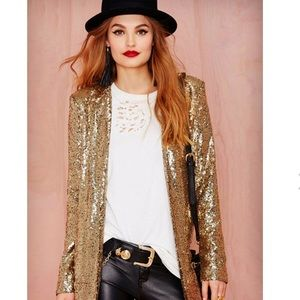 Gold sequin jacket - NWT!!