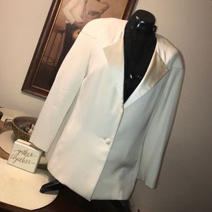 Carolina Herrera Jackets & Blazers - Carolina Herrera Ivory White 1 button Tux Blazer