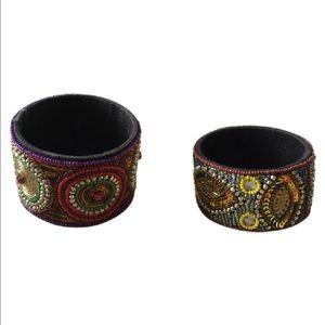 Jewelry - Women's Wide Beaded Bracelets