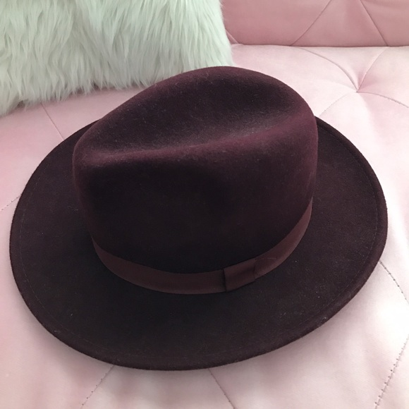 Forever 21 Accessories - Burgundy Fedora