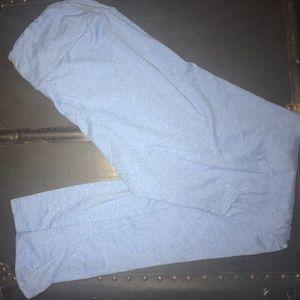 LuLaRoe OS Robins Egg Blue Leggings