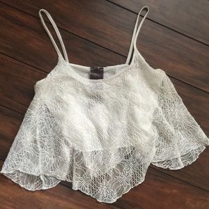 Moon Collection Tops - Lace Crop Top