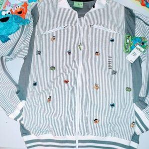 Sesame Street Other - Sesame Street 3XL Track Jacket Charcoal/White