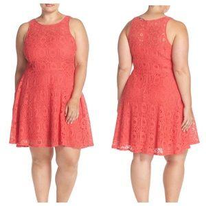 BB Dakota Dresses & Skirts - BB Dakota Lace Fit And Flare Dress Size 14