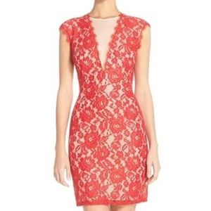 Aidan Mattox Dresses & Skirts - Aidan by Aidan Mattox Open Back Lace Sheath Dress