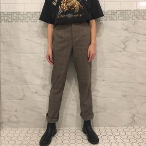 UNIF Pants - Vintage 90's Grunge Plaid Pants