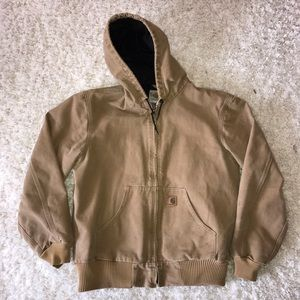 Carhartt Other - Men's Heavy Carhartt Tan Jacket Coat with Hood