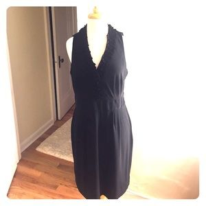 Just Taylor black cocktail dress with floral neck!