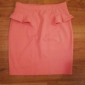 NWT Peach Peplum Forever 21 Pencil Skirt