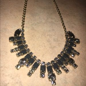 J. Crew dark green and crystal necklace