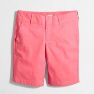 "J CREW* 9"" Inseam~FRANKIE Shorts~ Papaya size 10"