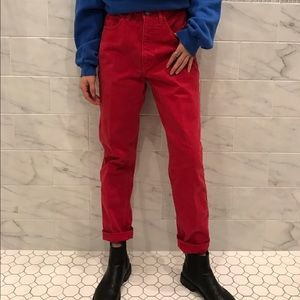 Urban Outfitters Denim - Rare Vintage Red GUESS Jeans