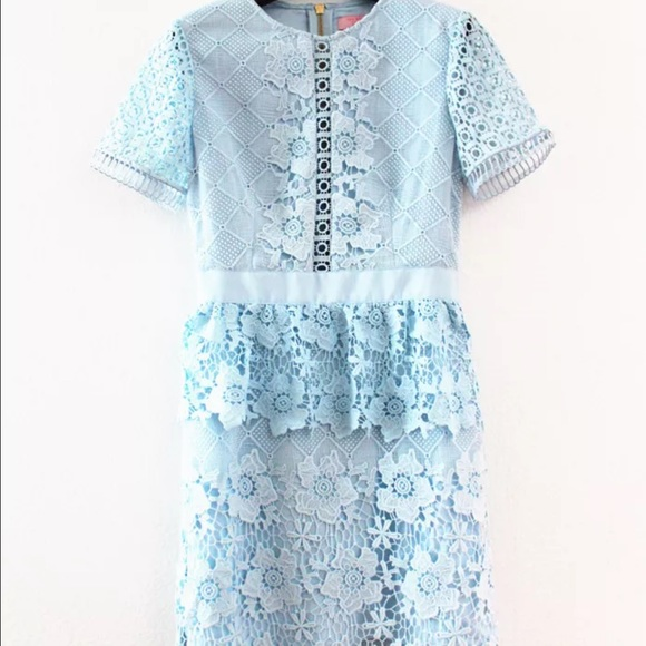 6019b018a9b57d New Ted Baker Layered Lace Dress