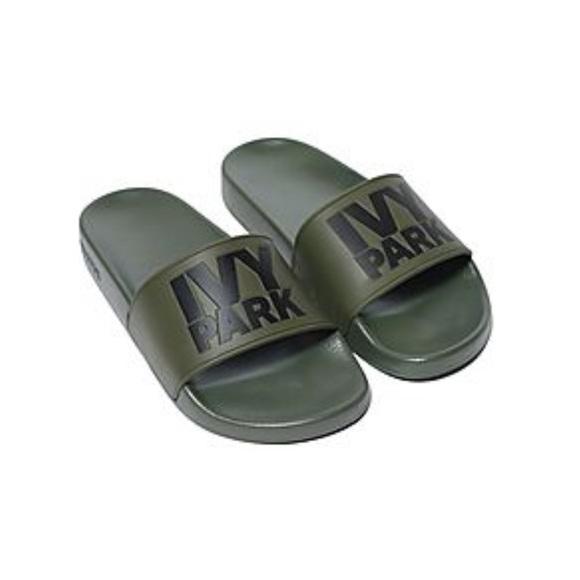 57a6f5201754 Ivy Park Shoes - 🖤Beyonce s IVY PARK slide sandals💚