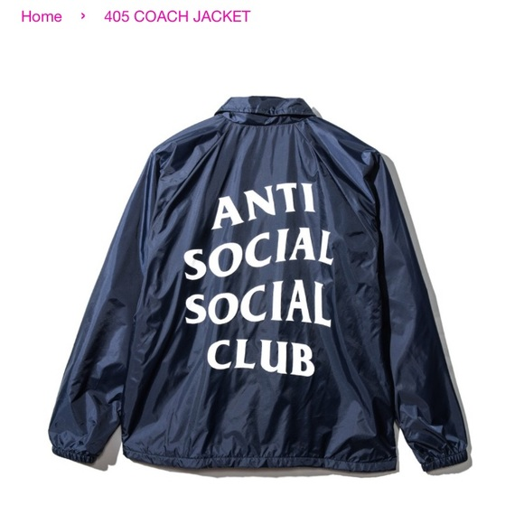 5ad3f8dc07bb Anti Social Club 405 coaches jacket S rare 2017