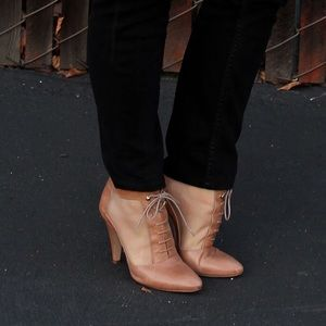 Loeffler Randall Georgia Mesh Lace-Up Booties