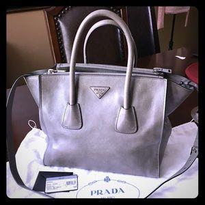 Prada Handbags - Authentic Prada Saffiano Double Zipper Satchel.