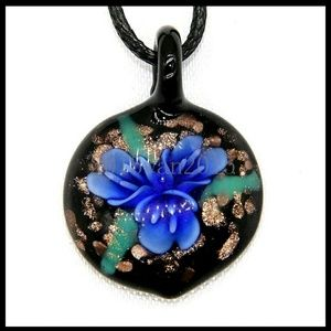 Beautiful Murano Art Glass Pendant Necklace