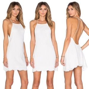 Motel Rocks Dresses & Skirts - Shade Slip Dress in Scallop Lace White by Motel