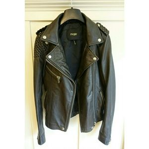 Maje Jackets & Blazers - Maje Madone Leather Jacket