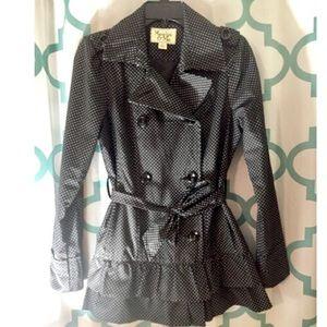 Maralyn & Me Jackets & Blazers - Maralyn & Me polka dot ruffle trench coat