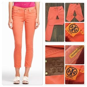 Tory Burch Cropped Skinny Jeans in Sunkist
