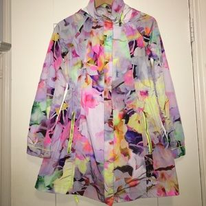 Ted Baker vibrant psychedelic rain jacket w/ hood