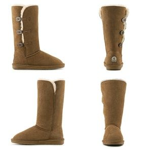 BearPaw Shoes - BearPaw Lauren suede sheepskin wool boots