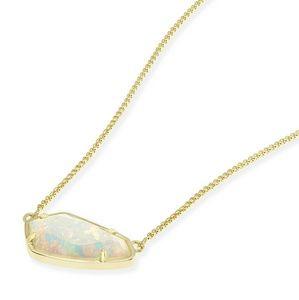 Kendra Scott Cami necklace in white kyocera opal