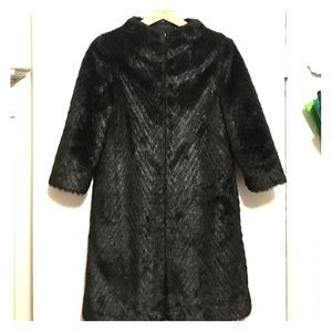 Faux fur Ted Baker hunter green elegant coat
