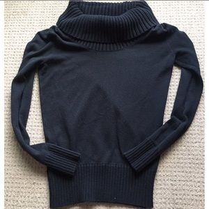BCBGMAXAZRIA Black Cowl Neck Sweater XS