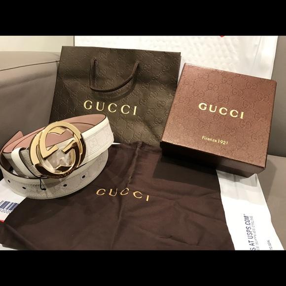 043e3bbb1e6 63% off Gucci Other - 🔥 Authentic Men Gucci Belt White .