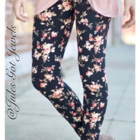 a358c92a45f46 Infinity Raine Pants | Peach Floral Leggings | Poshmark